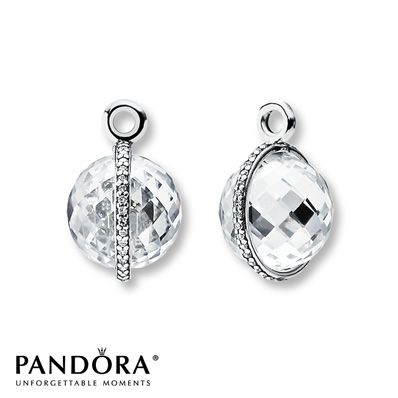 PANDORA Earring Charms Midnight Star CZ Sterling Silver
