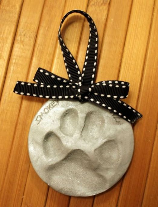 Image result for salt dough paw print ornaments