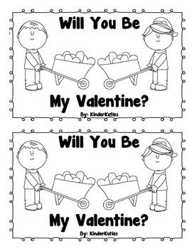 Will you be my Valentine? Mini book / emergent reader