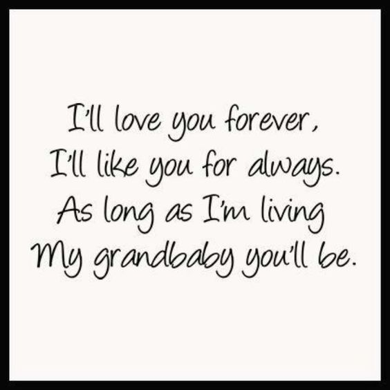 I'll live you forever, I'll like you for always