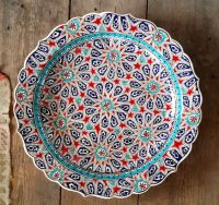 Hand Made Turkish Ceramic Plate / Wall Decor / iznik by