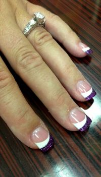 1000+ ideas about Purple Wedding Nails on Pinterest