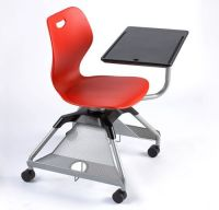 Red classroom, Chair with storage and Rolling desk on ...