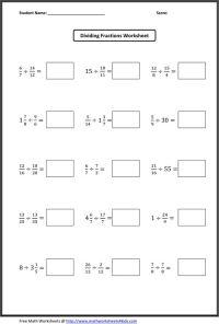 Dividing Complex Fractions Worksheet - fractions dividing ...