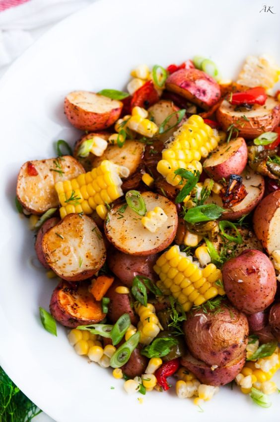 """Southwest Roasted Potato Salad recipe 