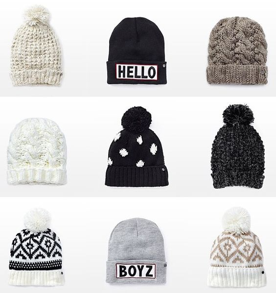Look at this cool beanies! I think girls looks so cooll when they use beanies??