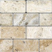 Tumbled Travertine - 3x6 Picasso   Marbles, Tile stores ...