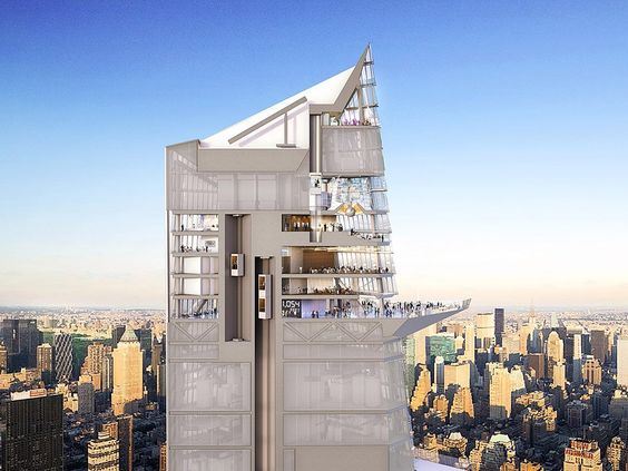 A render of the observation deck on 30 Hudson Yards