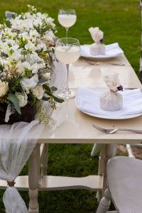 Cheesecloth table runner tied with twine. Pretty on a ...