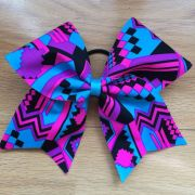 neon cheer and turquoise