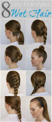 wet hair easy hairstyles and running