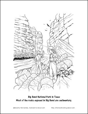 Sedimentary rock, Coloring pages and Coloring on Pinterest
