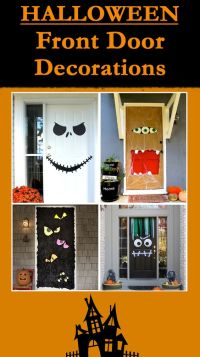 Halloween front doors, Front doors and Decoration on Pinterest