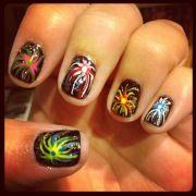 fireworks nail design
