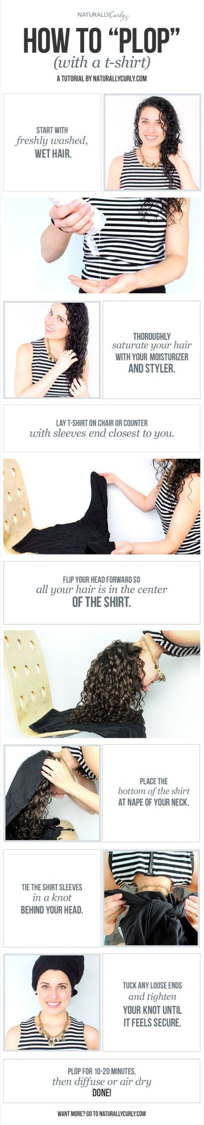 Drying your hair with a tshirt instead of a towel are life saving hair care tips!