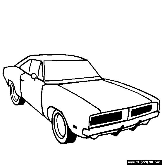 Coloring pages, Coloring and Dodge challenger on Pinterest