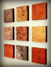 Easy DIY Wall Art -- square stretched canvases, scrapbook ...