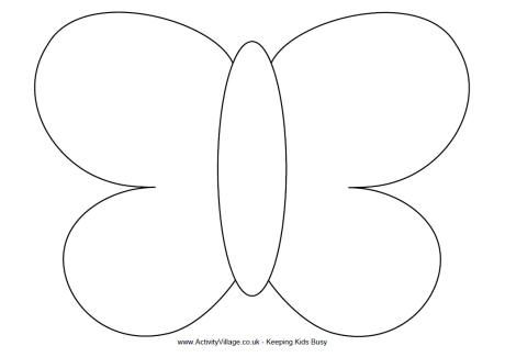 Coloring, Butterfly crafts and Butterfly template on Pinterest