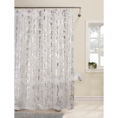 White Fabric Shower Curtains BestCurtains