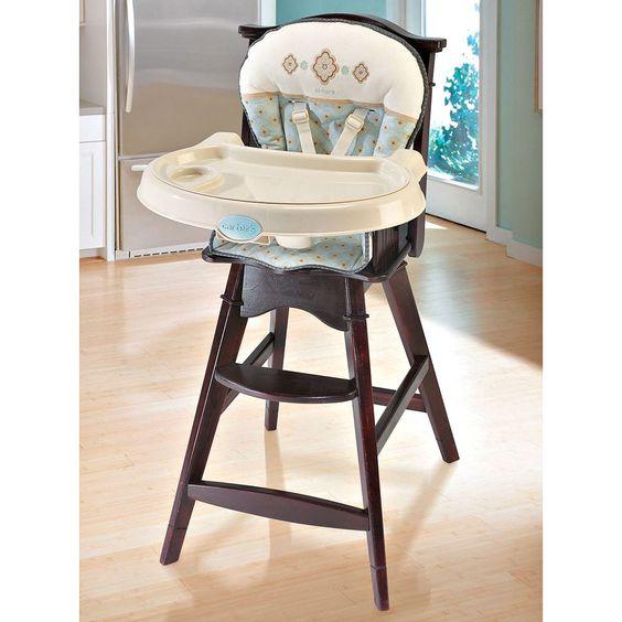Carters Classic Comfort Reclining Wooden High Chair