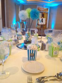 Boy baby shower. Home made favors and centerpieces. | Time ...