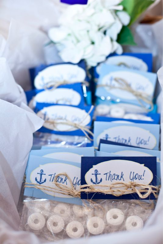 Cute Nautical Baby Shower Favors