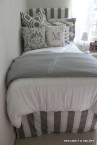 grey + white dorm room bedding custom bed in a bag for ...