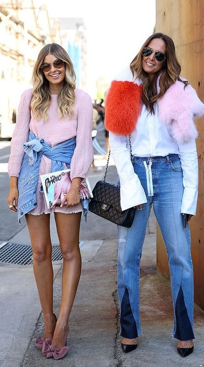 A Luxe Fur Stole or Suede Heels Are Made Daytime Appropriate With Distressed Denim: