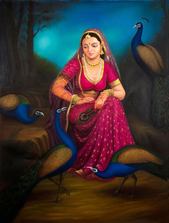 Alwar Girl Wallpaper Indian Paintings Indian And Most Beautiful On Pinterest
