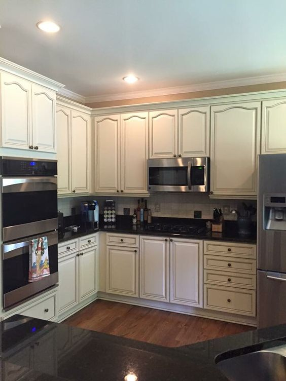 making a kitchen island from cabinets commercial hood installation sherwin williams antique white by kb walks ...