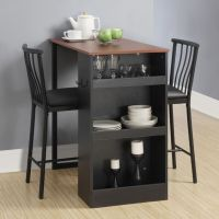 3 Pc Countertop Height Bar Set Table and Chairs Home ...