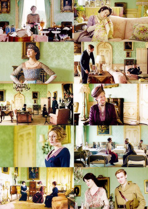 Downton Abbey Drawing Room: Downton Abbey: Finales And Favorite Rooms