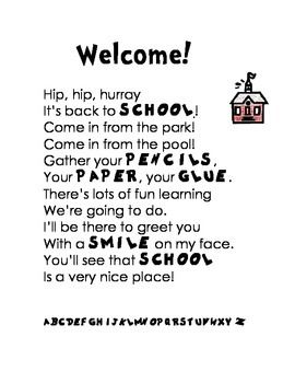 Dr. seuss, Back to school poem and Back to on Pinterest