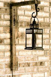 Rustic meets Modern wall lantern