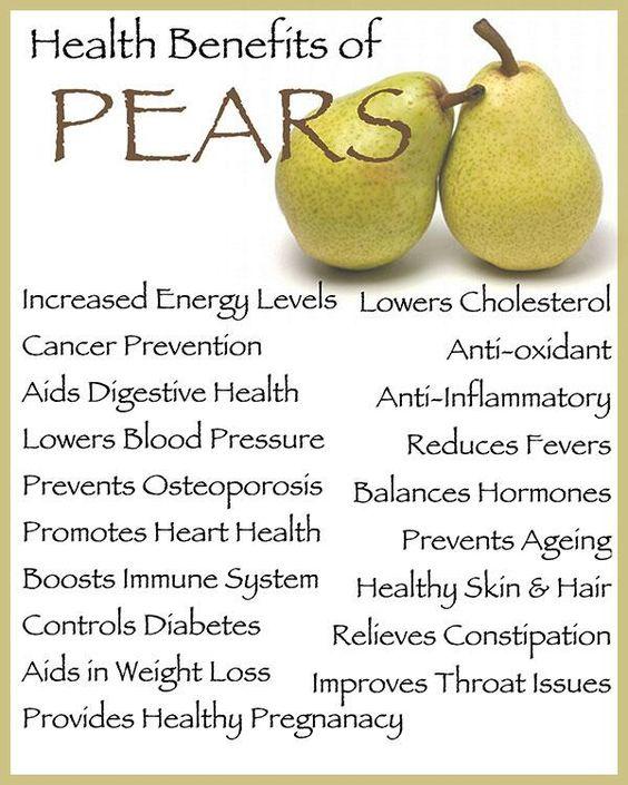 Health Benefits of Pears | Excalibur's Patient Resources ...
