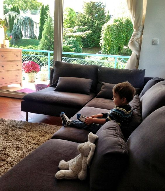 our grey IKEA Sderhamn sofa  house  Pinterest  Grey sectional Grey and Ikea sofa