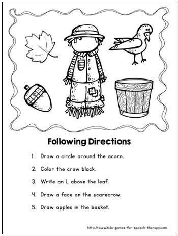 Speech therapy activities, Scarecrow crafts and Therapy