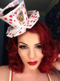 How to make a Queen of Hearts teacup fascinator from playing cards.: