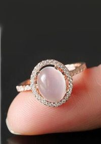 simple halo moonstone promise ring | 2016Best Silver ...