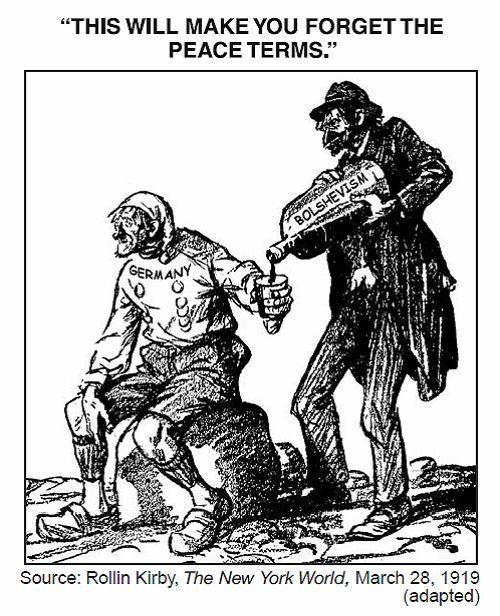 This political cartoon illustrates how the Treaty of