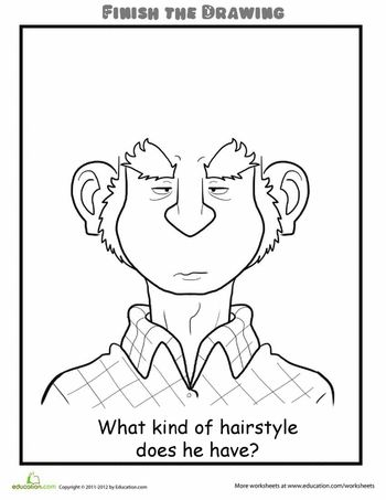 Finish the Drawing: What Kind of Hairstyle Does He Have