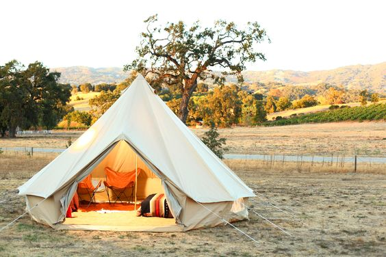 """S.F.'s Glamping Gurus Show Us How To Entertain Outside In Style! #refinery29  http://www.refinery29.com/glamping-essentials#slide2  A look at a Shelter Co. tent, set up on the awe-inspiring grounds of Campovida.      How would you describe a Shelter Co. experience?  """"The Shelter Co. experience is a luxurious way to enjoy the outdoors. Our setups allow people to unplug, get back to nature, and unwind without having to rough it and feel exhausted at the end of the trip. Camping is tiring! By ..."""