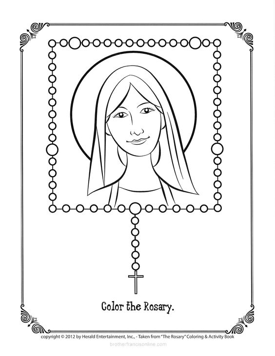 Pray and Color a rosary bead as you complete each prayer