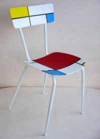 Recycled Chair Mondrian  Recycled Ideas | Fundraisers ...