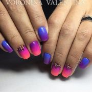 gradient nails bright summer