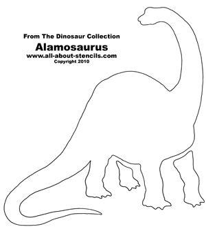 Dinosaur Alamosaurus Stencil from www.all-about-stencils