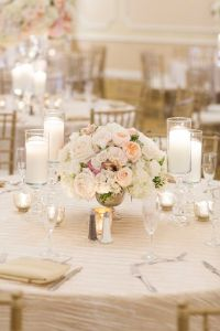 California wedding, Rose centerpieces and Wedding table