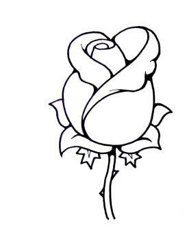 simple rose drawing drawings easy draw rosebud roses google bud buds line tattoos sketches related tutorial paint keywordsuggest