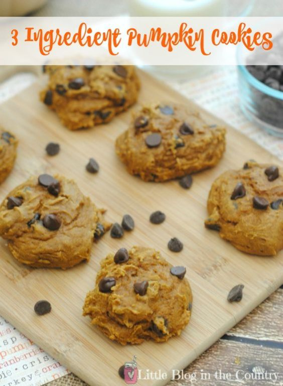 These 3 Ingredient Pumpkin Cookies are so easy and YUMMY!: