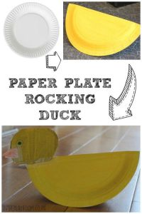 Baa is for Battah: Paper Plate Duck | Crafts, Paper and ...